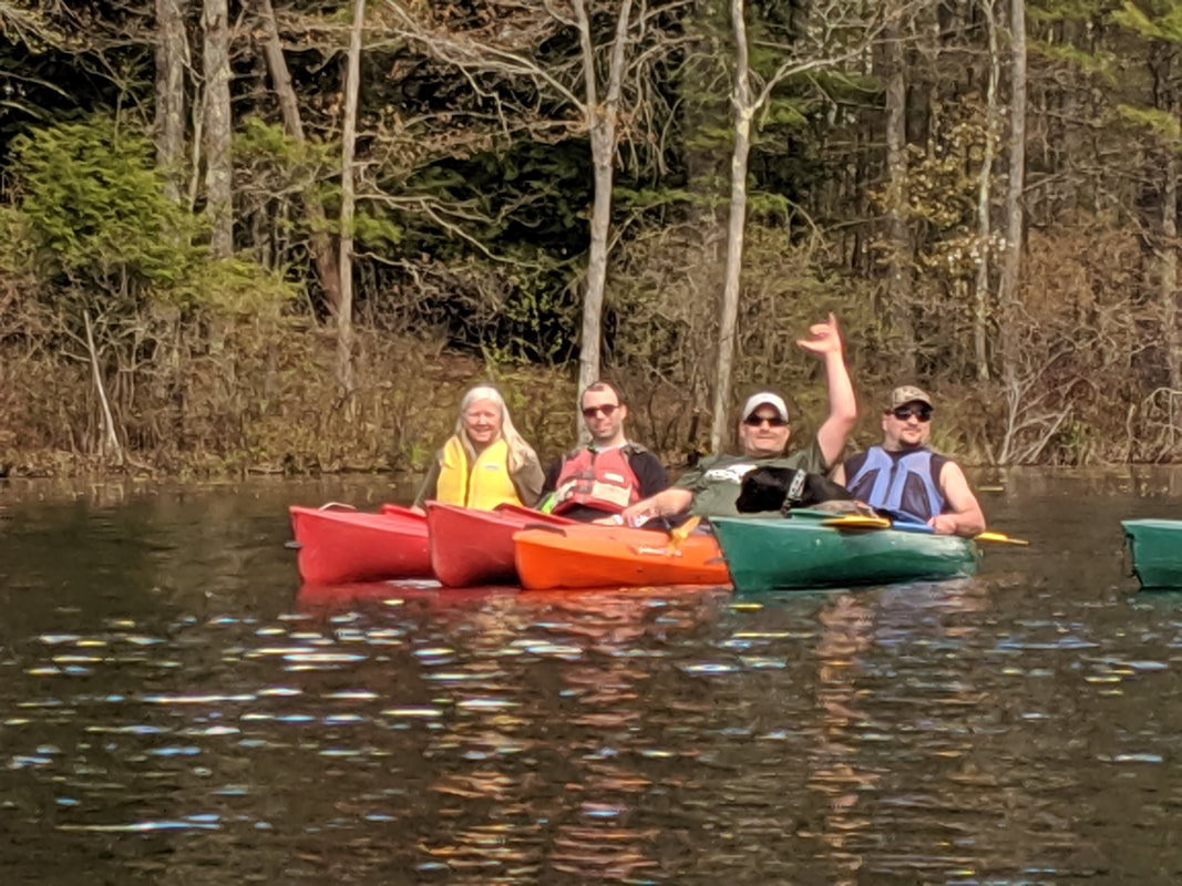 Veterans learn to kayak in the Lakes Region